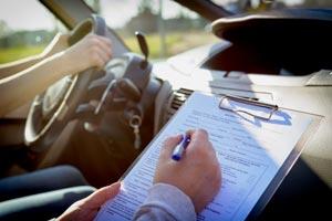 Drivers road test in progress