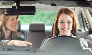 Driving lessons with female instructor