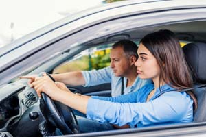 Driving lessons with male iinstructor
