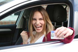Teen driver celebrates getting drivers license